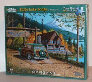 White Mountain Eagle Lake Lodge Mike Bennett 1000 Piece Puzzle 10395 NEW SEALED