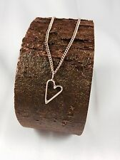 Solid 9ct Rose Pink Gold Heart Pendant - Small wire Heart