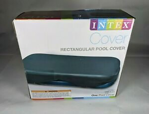 "Intex 120"" x 72"" Rectangular Pool Cover 58412EP Fits Play Day Pool ☆ NEW FAST SH"