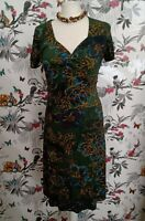 *BNWT Joe Browns Short Sleeves Floral Summer Stretchy Green Dress Size 10