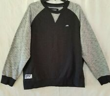 Truck Fit mens pullover sweat shirt size XL blk & wht with patches on sleeves