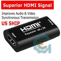 4K 2K 3D HDMI Cable Signal Repeater Extender Amplifier Booster up to 40M