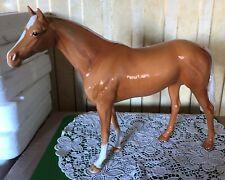 BESWICK HORSE LARGE RACEHORSE PALOMINO GLOSS MODEL 1564  GOOD CONDITION
