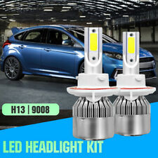 1Pair H13 LED Headlight Bulb for Ford Focus 08-2011 Flex 09-2018 Mustang 08-12