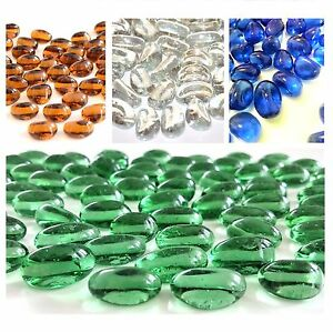 Glass Pebbles Stones Nuggets Beads Vase Home Decorations CHOICE OF COLOURS