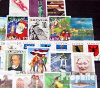 Lettland 25 verschiedene Marken