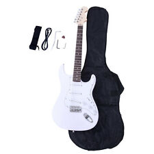 New 6 Strings Right-Handed Electric Guitar +Strap+Cord+Gigbag+Accessories White