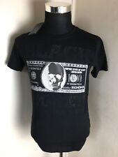 BNWT Alex Dandy Skull Dollar Bill Black Money T Shirt Top Medium Tight Fitted