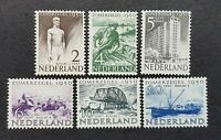Netherlands  1950 Cultural & Social Relief Fund  SG713 - 718 Set MH/HR