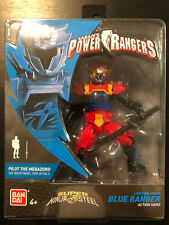 POWER RANGERS SUPER NINJA STEEL LION FIRE BLUE RANGER FIGURE 43938 2018