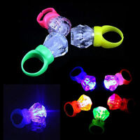 10X Light Up LED Flashing Finger Rings Glowing Party Favors Kids Children Toys