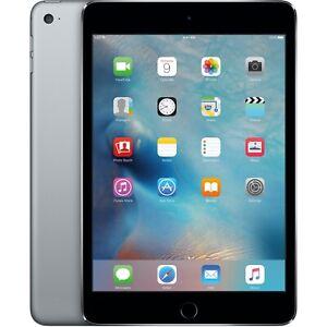 Apple iPad mini 4 Wi-Fi 128GB Space Gray w/Silicone Case & Smart Cover MK9N2LL/A