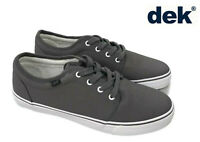 Mens DEK Canvas Shoes Lace Up Boat Casual Deck Summer Yacht Pumps Plimsolls