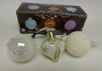 Very Pretty Set Of 3 Color Changing LED Christmas Tree Ornaments NIB