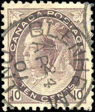 1898 Used Canada 10c VF Scott #83 Queen Victoria Numeral Stamp