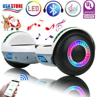 "6.5"" Bluetooth Hoverboard LED Self Balancing Electric Scooter No Bag Scooters US"