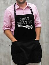 Just Beat It Apron / Funny BBQ Grilling Gift for Men - Dads & Grandpas