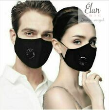 New listing 2 Reusable Face Mask Premium With Valve + 4 Pm 2.5 Filters (Limited Time Sale)
