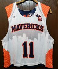 Reversible Blue & White Michigan Mavericks #11 Lacrosse Jersey Man Small