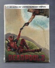 Deadpool 2 - 4K UHD + 2D Slipsheet Vintage Edition Blu-ray Steelbook - NEW