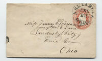 1850s U1 small size nesbitt envelope ashtabula Ohio [5775.11]