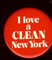 I LOVE a CLEAN NEW YORK old pin