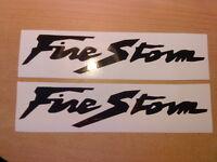 firestorm x2 fuel tank,helmet,forks,motorbike,vinyl graphics decals stickers cbr