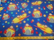 Noddy Toyland Drives Airplanes & Vintage Cars Cotton Fabric BTY
