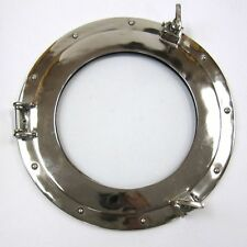 "15"" ROUND ALUMINUM CHROME FINISH PORTHOLE WITH GLASS-NAUTICAL DECOR"