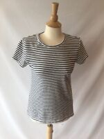J Crew Women's Perfect Fit T-shirt Tee Striped Black & White Short Sleeve Medium