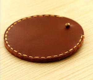 men women wallet cow Leather Coin Zero case bag red purse handmade brown S141