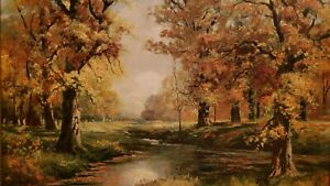 Original Vintage Oil Painting by Robert W. Wood   (1889 - 1979 Bishop,CA)