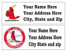 60 ST LOUIS CARDINALS RETURN ADDRESS LABELS MANY CHOICES