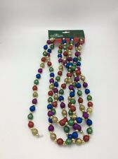$24 Kurt Adler 9 feet multi color glitter bead christmas trim C10