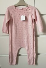 BNWT NEXT___pink knitted romper all in one girl age 12-18 mths