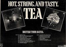 "20/3/76P20 TEA : THE SHIP ALBUM & BRITISH TOUR DATES ADVERT 7X11"""