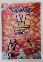 "WWF - Vintage Wrestlemania V Laminated Event Poster Reprint 11""X8"" WWF WWE WCW"
