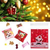 Christmas Self-adhesive Food Bag Cookies Biscuit Candy Plastic Bag Kids Gift Bag