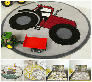 Fun Colourful Budget Boys Girls Bedroom Play Rugs Easy Clean Gender Neutral Mats