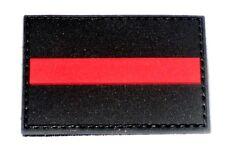 Klettpatch Rubberpatch ca. 6 x 4cm thin red line Deutschland Feuerwehr firefight