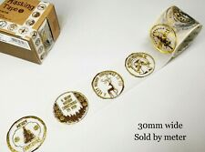 Washi Tape Vintage Black and White 30-50mm wide sold by meter MT271