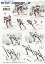 Feuille 3D à découper A4 8215.710 Sport Ski Skieur 3D Sheet Ski