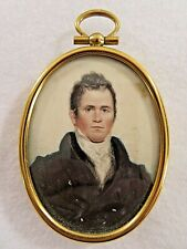 19th Century, Miniature Portrait of a Man with Great Painting Technique