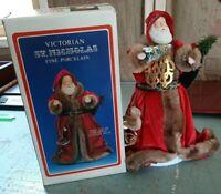 """Vintage Kurt Adler Santa's World St Nicholas 12"""" Tree Top Table Santa Porcelain"""