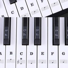 Transparent Piano 88/61/54/49 Key Note Keyboard Stickers Learn Teach Play Music
