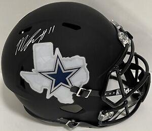 Micah Parson Signed Autographed Dallas Cowboys Custom Full Size Helmet Coa