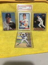 Nomar Garciaparra lot (4) Cards w/1992 Topps Traded PSA-7