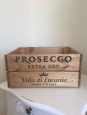 Vintage Wooden Prosecco Made In Italy Wine Crate Box Storage Shabby Chic