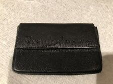 PRADA-SAFFIANO LEATHER BUSINESS/CARD CASE-BLACK-MINT CONDITION!
