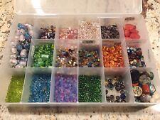 Lot Semi Precious Beads Quartz Faceted glass Murano Millefiori stone granite